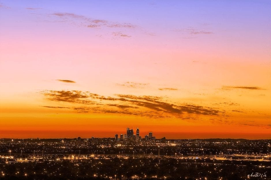 Deans-Auto-Glass-Wa-Scenic-Drives-Perth-hills Sunset