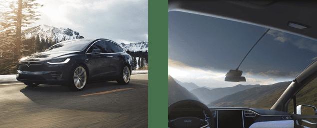 panoramic windscreen - Tesla X