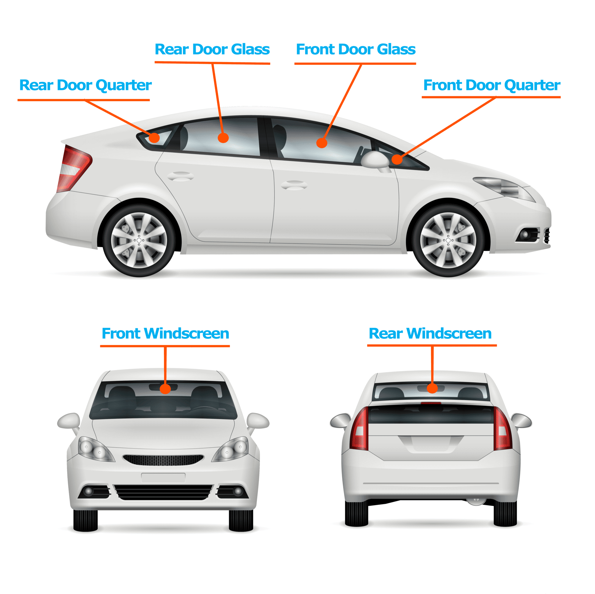 Names of your car windows