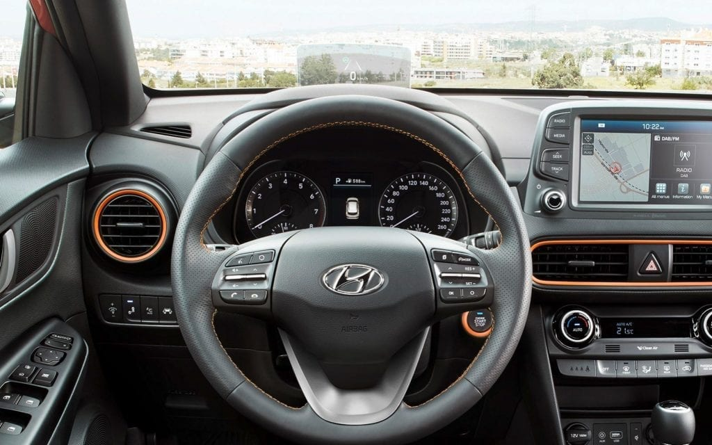 Head-up-display on Hyundai Kona